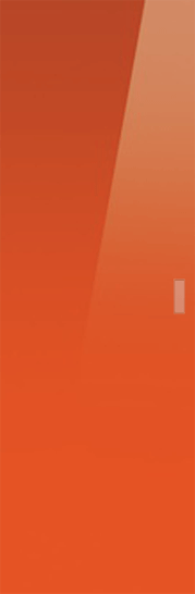 Classic Glass Pocket Door System Coloured ORANGE (RAL 2001)