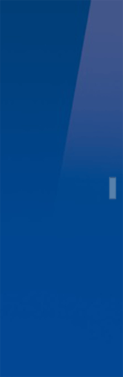 Syntesis® Flush Glass Pocket Door System Coloured BLUE (RAL 5002)