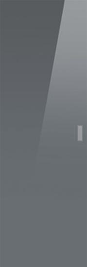 Syntesis® Flush Glass Pocket Door System Coloured GREY (RAL 7024)