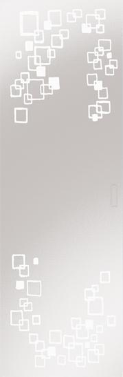 Syntesis® Flush Glass Pocket Door System Patterned RIFLESSI