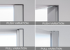 Eclisse Syntesis® Flush Hinged Glass Door - Push and Pull Options