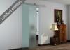 Elegant sliding glass door with 8mm tempered satin glass door panel