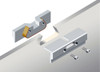 Comes with a unique dovetail-shaped secure hanging bracket that fits into a dovetail shaped cut out in the glass