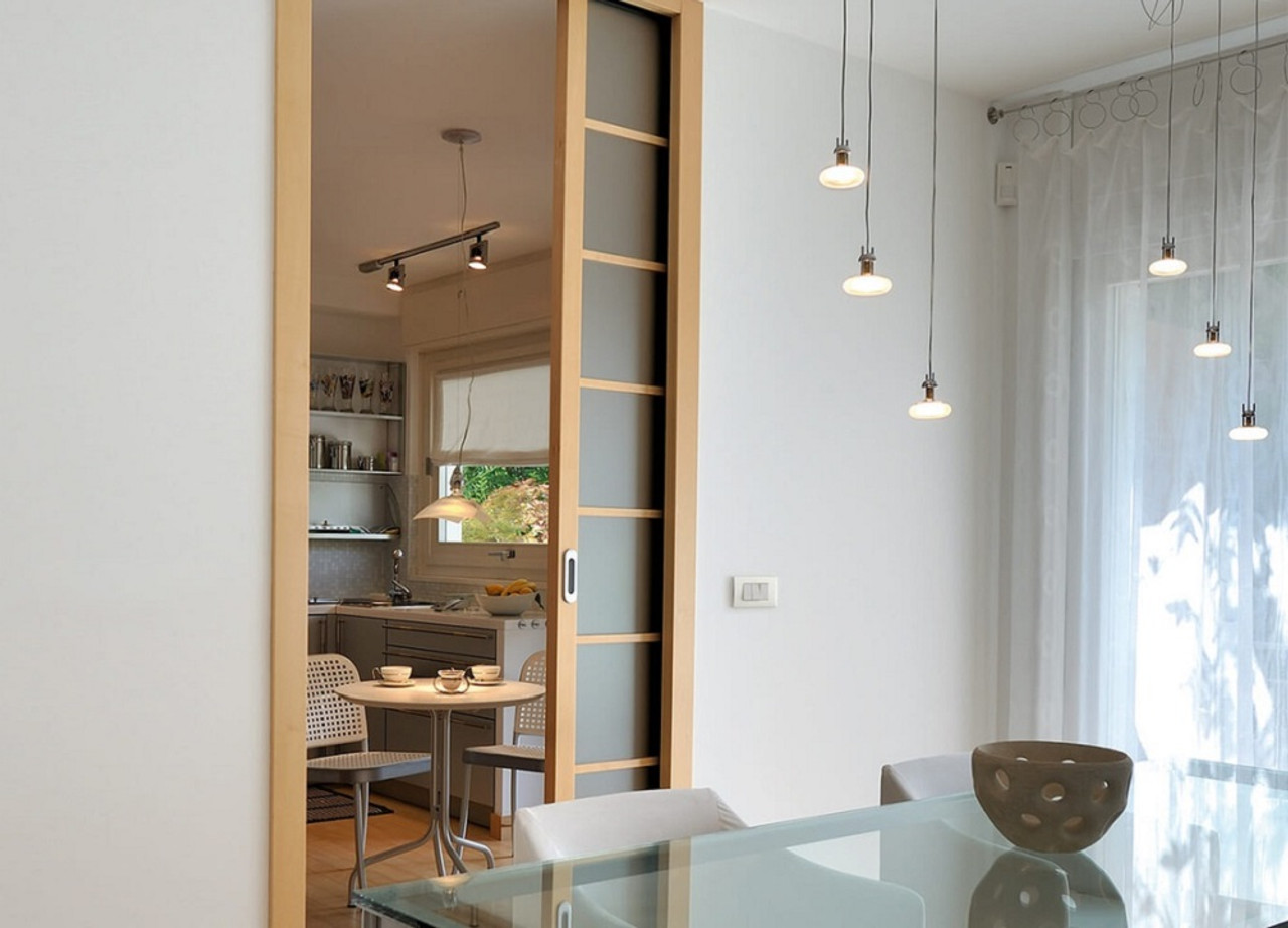 Eclisse SINGLE wiring-ready sliding pocket door system ... on