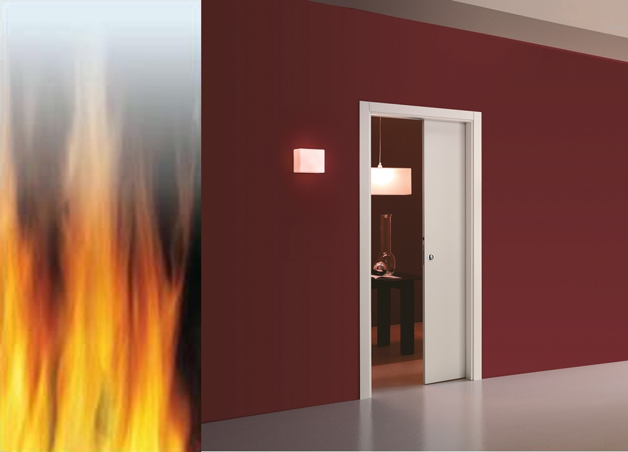 Eclisse Single Fire Door System FD30 & Eclisse Single Pocket Door System FD30 Fire-Rated - Easy fit FREE ...