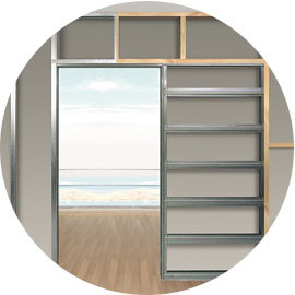 How to install your Eclisse pocket door system with a variety of wood and metal stud work sizes.
