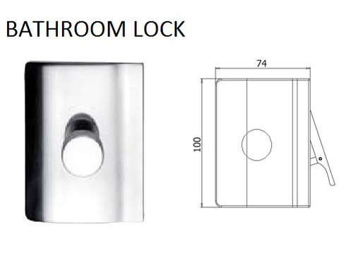 Glass Door Bathroom Lock (V-407)