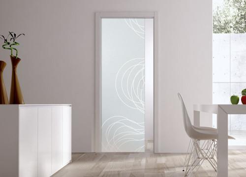 Classic Glass Pocket Door System Patterned FIBRE