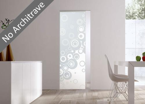 Syntesis® Flush  Glass Pocket Door System Patterned STAMPE2