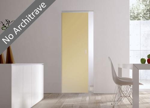 Syntesis® Flush Glass Pocket Door System Coloured SATIN AMBER