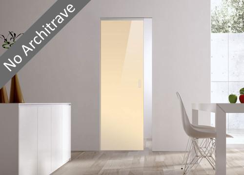 Syntesis® Flush Glass Pocket Door System Coloured BEIGE (RAL 1015)