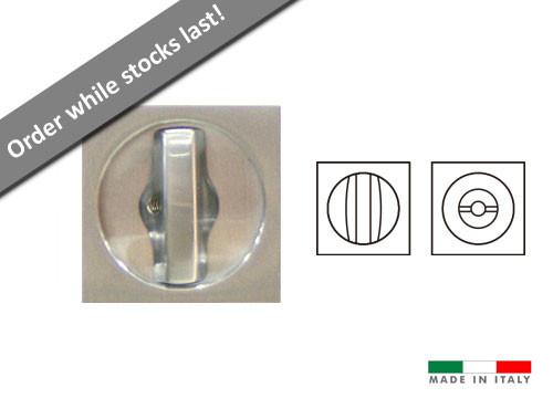 Eclisse Square Bathroom Lock for 44mm Doors - Satin Chrome