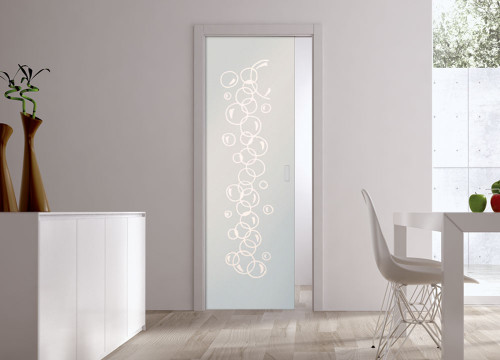 Classic 10mm Glass Pocket Door System Patterned BOLLE
