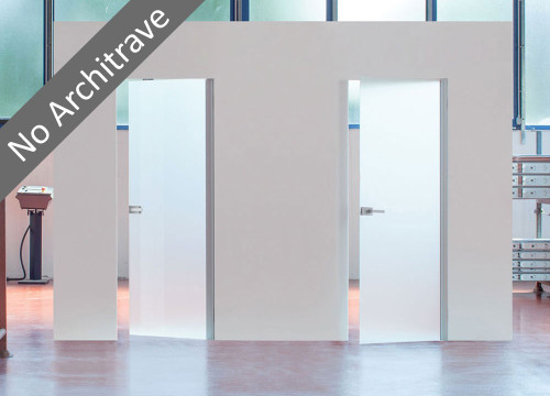 Eclisse Syntesis® Flush Hinged Glass Door - 8mm tempered hinged glass door available in a variety of finishes.