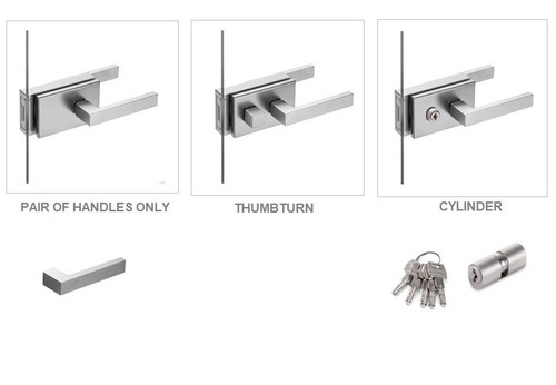 York Door Handle Range (For Glass Hinged Door)