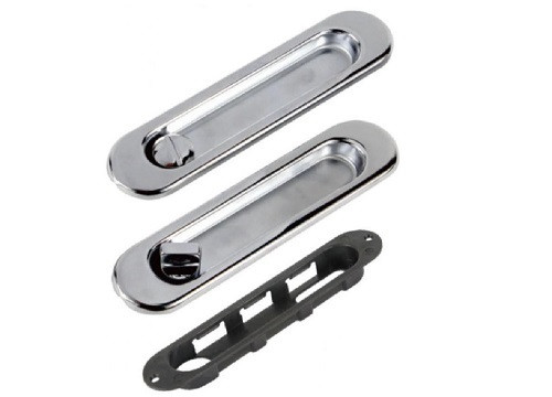 Oblong Bathroom/Privacy Lock Set