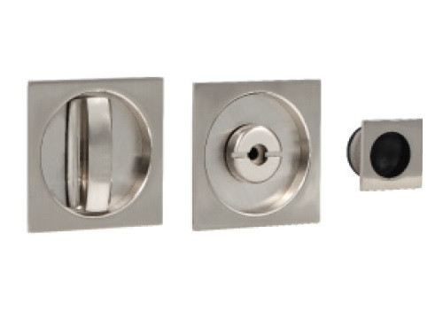 Square Bathroom / Privacy Lock Set For Sliding Pocket Door