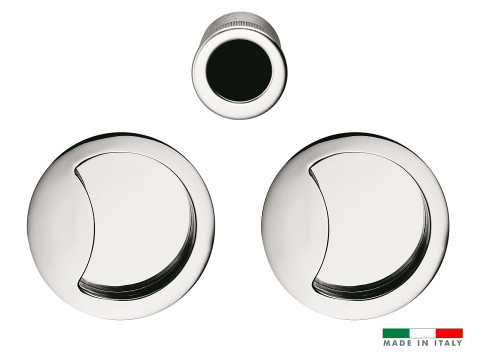 Half Moon Flush Pull Handle Set for Sliding Pocket Door