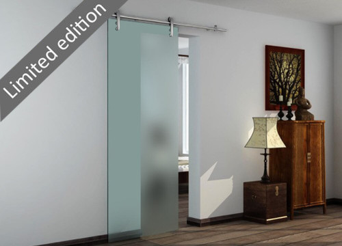 Elegant sliding glass door with 8mm tempered satin glass door panel