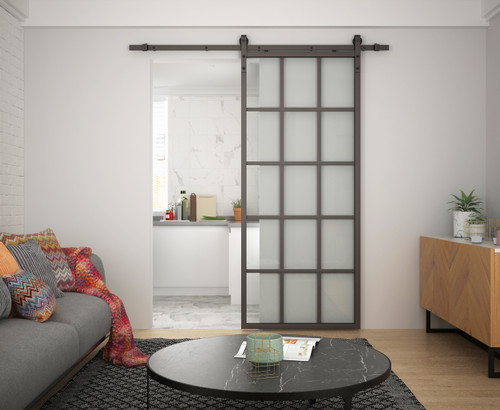 Crittall Style 3x5 Sliding Glass Door with softclose – Clear Glass