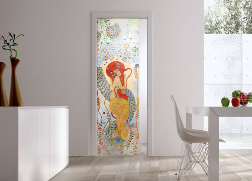 Classic Glass Pocket Door System Handpainted NINFE