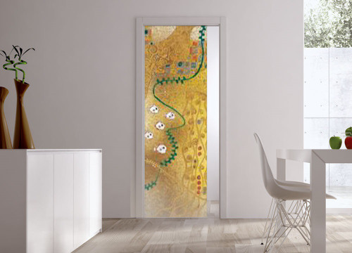 Classic Glass Pocket Door System Handpainted MAREE