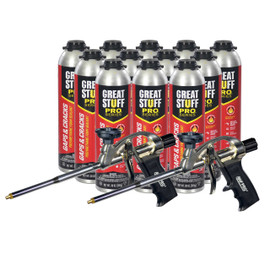 Full Case of Great Stuff Pro™ Gaps & Cracks Foam, 30 oz Can and 2 Pro Foam Guns