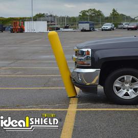 Minimize knocked over bollards and damage to vehicles