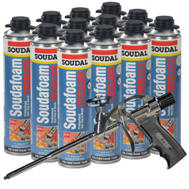 Our kit comes with 12 cans of SoudaFoam and one of our AWF Pro Foam Guns