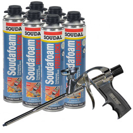 Our kit comes with 6 cans of SoudaFoam and one of our AWF Pro Foam Guns