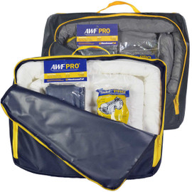 You receive 1 Universal Portable Spill Kit and 1 Oil Only Portable Skill Kit