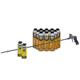 """GREAT STUFF™ Kit, 12x26.5oz Wall & Floor, 2 Cleaner, AWF Pro Gun (40"""" barrel, Swivel Tip)"""