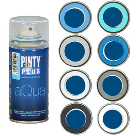 PINTYPLUS AQUA 210cc - 8 Piece Assortment - Blue / Gray Assortment