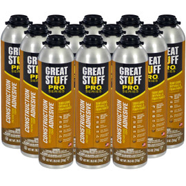 Great Stuff Pro™ Construction Adhesive, 26.5oz Pro Can, Full Case (12 Cans)
