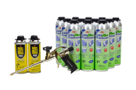 Enerfoam combines both Closed Cell, Gap Filling, Foam Sealant with a Construction Adhesive