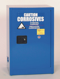 12 Gallon Acid & Corrosive Safety Cabinet, Self Close Doors, Blue, Eagle CRA-1924