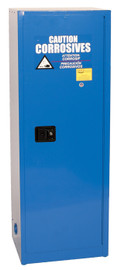 24 Gallon Acid & Corrosive Safety Cabinet, Manual Close Door, Blue, Eagle CRA-1923