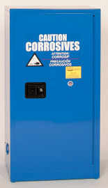 16 Gallon Acid & Corrosive Safety Cabinet, Manual Close Doors, Blue, Eagle CRA-1906