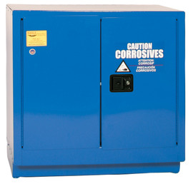 22 Gallon Acid & Corrosive Safety Cabinet, Under Counter, Manual Close Door, Blue, Eagle CRA-71