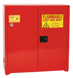 40 Gallon Paint & Ink Safety Cabinet, Self Close Doors, Red, Eagle PI-3010