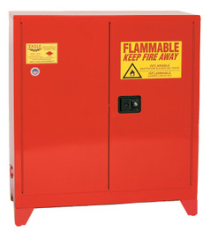 40 Gallon Paint & Ink Safety Cabinet, Manual Close Door, Red, Eagle PI-32LEGS