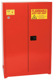 60 Gallon Paint & Ink Safety Cabinet, Sliding Self Close Door, Red, Eagle PI-45