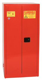 96 Gallon Paint & Ink Safety Cabinet, Self Close Door, Red, Eagle PI-6010