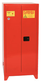 96 Gallon Paint & Ink Safety Cabinet, Manual Close Door, Red, Eagle PI-62LEGS