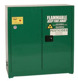30 Gallon Pesticide Safety Cabinet, Self Close Doors, Green, Eagle PEST3010