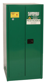 60 Gallon Pesticide Safety Cabinet, Manual Close Doors, Green, Eagle PEST62