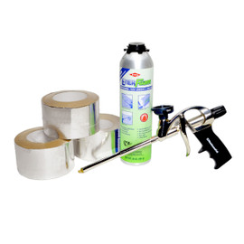 Poly ISO Foam Board Installation Kit with Foil Tape (Silver)