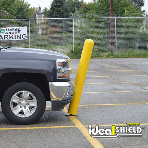 Minimize knocked over bollards and damage to vehicles