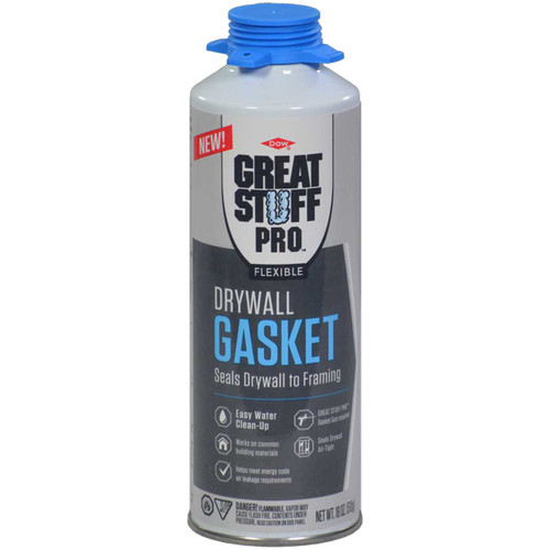Great Stuff Pro Flexible Drywall Gasket Foam 18oz