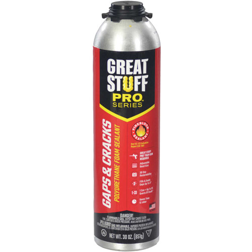 Great Stuff Pro™ Gaps & Cracks Fireblock Foam, 30oz Pro Can